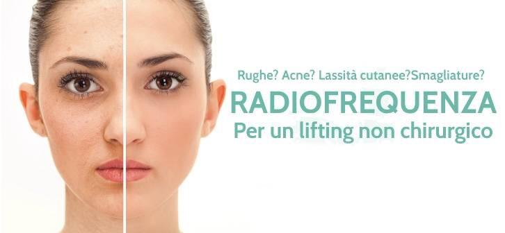 Radiofrequenza Viso,Glutei,Ventre, braccia, interno cosce